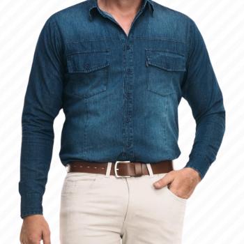 Camisa Mangas Largas Jeans