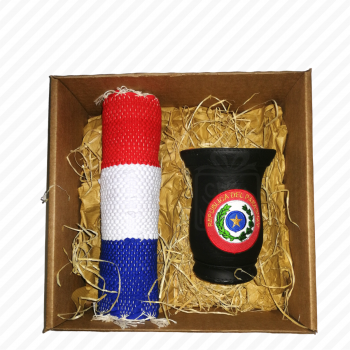 Caja con Guampa de Paraguay
